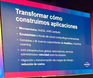 Productos y servicios AWS utilizados en Cencosud