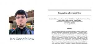 Referencia al paper Generative Adversarial Nets - Ian Goodfellow