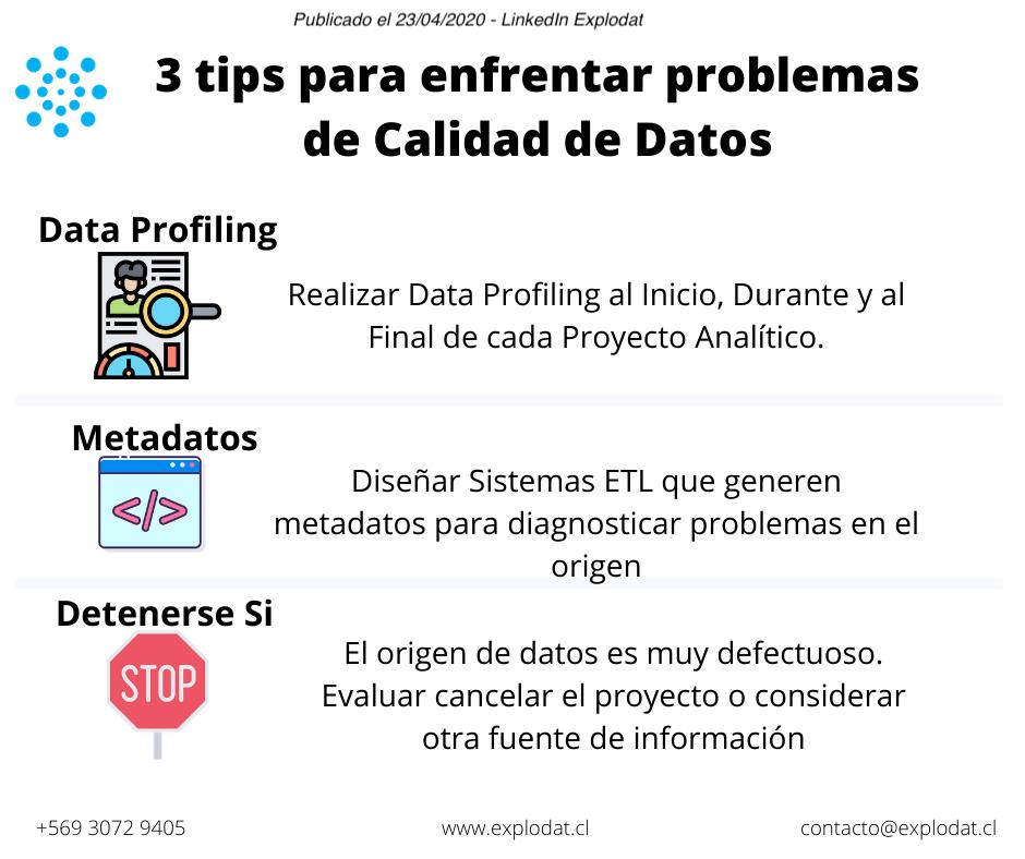 Procesos ETL para enfrentar problemas de calidad de datos